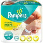 PAMPERS COUCHES NEW BABY MICRO 1-2,5 KG x 24 à Saint-Médard-en-Jalles