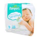 PAMPERS COUCHES NEW BABY SENSITIVE TAILLE 1 2-5 KG x 23 à Saint-Médard-en-Jalles