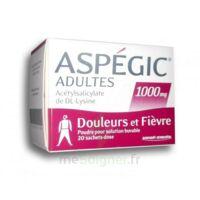 ASPEGIC ADULTES 1000 mg, poudre pour solution buvable en sachet-dose 20 à Saint-Médard-en-Jalles