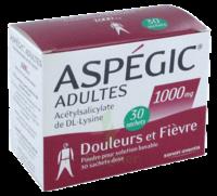 ASPEGIC ADULTES 1000 mg, poudre pour solution buvable en sachet-dose 30 à Saint-Médard-en-Jalles