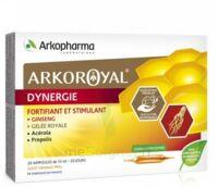 Arkoroyal Dynergie Ginseng Gelée Royale Propolis Solution Buvable 20 Ampoules/10ml à Saint-Médard-en-Jalles