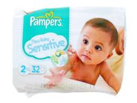 PAMPERS COUCHES NEW BABY SENSITIVE TAILLE 2 3-6 KG x 32 à Saint-Médard-en-Jalles