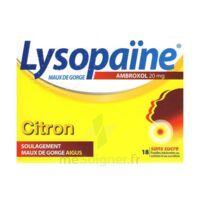 LysopaÏne Ambroxol 20 Mg Pastilles Maux De Gorge Sans Sucre Citron Plq/18 à Saint-Médard-en-Jalles