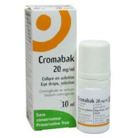 CROMABAK 20 mg/ml, collyre en solution à Saint-Médard-en-Jalles
