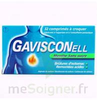 GAVISCONELL Coprimés à croquer sans sucre menthe édulcoré à l'aspartam et à l'acésulfame potas Plq/24 à Saint-Médard-en-Jalles