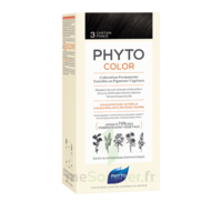 Phytocolor Kit Coloration Permanente 3 Châtain Foncé à Saint-Médard-en-Jalles